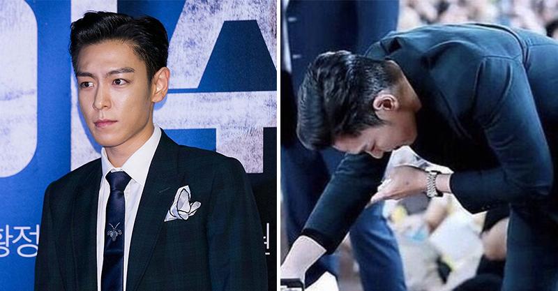 BIGBANG成員T.O.P.退伍!大熱天「穿西裝」與粉絲握手 愧疚喊:我會補償一切