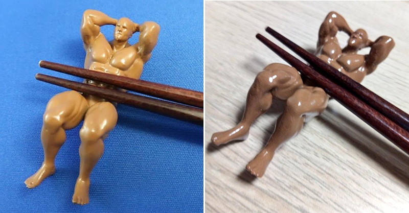 日大推讓人羞羞的「肌肉猛男筷子架」 把他「翻過來用」更驚人!