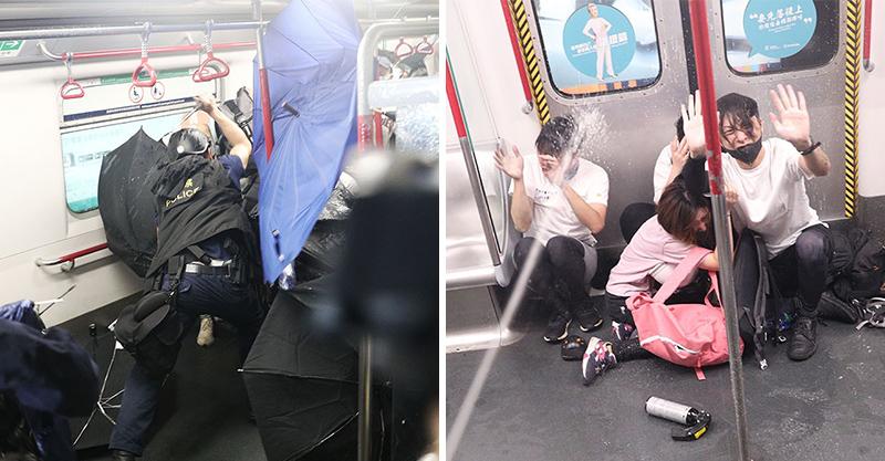 影/香港831集會再爆衝突!速龍衝進車廂「狂揮警棍」紅一片 目擊者哭喊:像《屍速列車》