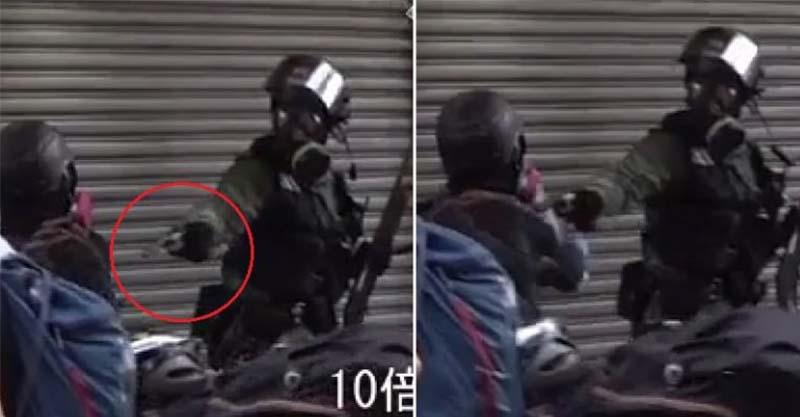 影/香港18歲高中生被警察「近距離開槍」倒地命危!港警:沒有其他選擇、合法合理