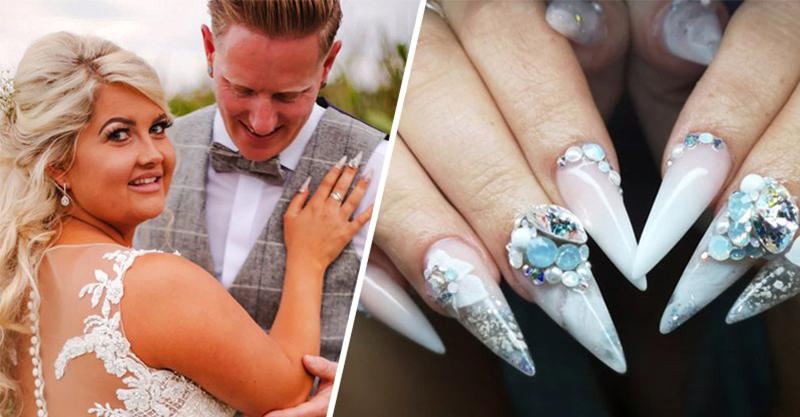 影/為了完成爸爸遺願…新娘把「骨灰加到美甲裡」出席婚禮 她激動喊:感覺到他的溫暖!