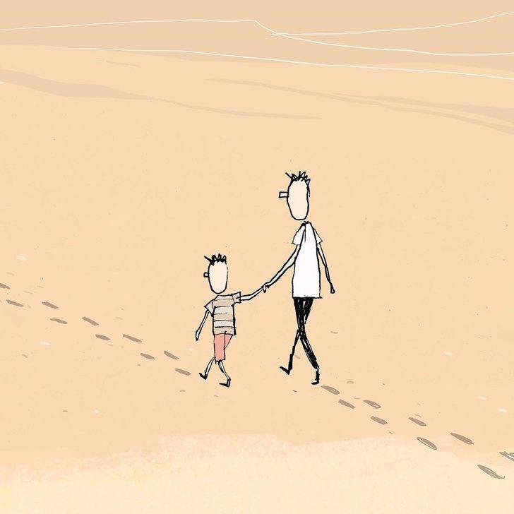 以色列畫家打造「聰明人才能懂」的諷刺社會插畫 「男人的承諾」就像短暫的泡沫!