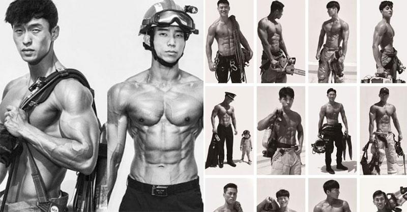 2020年「首爾消防猛男月曆」上市!八塊腹肌只是基本 偶像級顏值「4月男神」太養眼