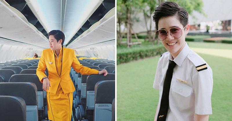 學霸美T「陪朋友考空姐」卻意外被選上 他「邊上班邊念書」最後還考上機師!