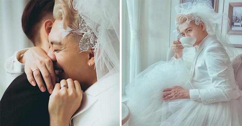 最美同志新娘「披絕美婚紗」結婚了 網紅泰辣「西裝+蓬裙」美到粉絲尖叫!