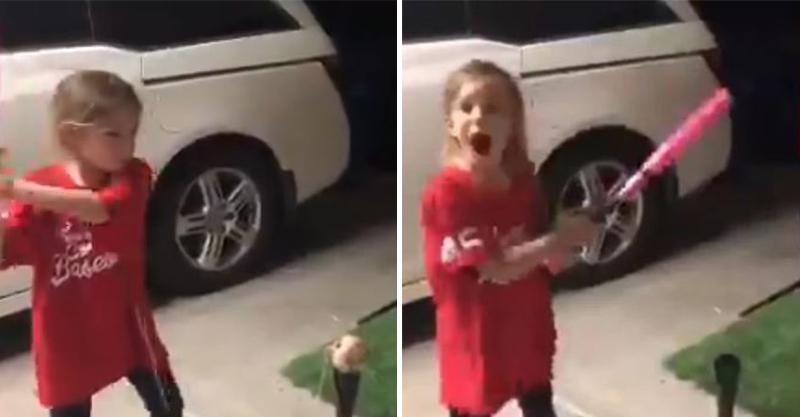 影/美國女孩「用棒球拔牙」影片爆紅 她超勇敢「揮棒」連大聯盟也佩服!