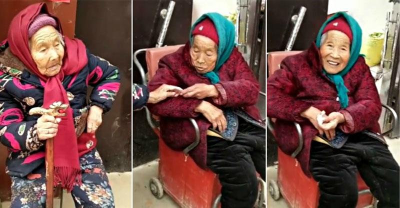 影/107歲奶奶「帶糖果回家」給84歲女兒 她秒露「幸福燦笑」超感人!