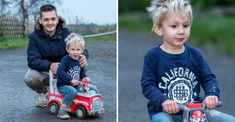 老爸癲癇發作!3歲男童「開玩具車」上公路求救 焦急告訴路人:爸爸很虛弱…