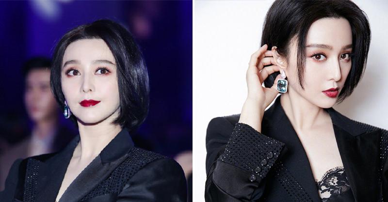 范冰冰新造型「肩上短髮」曝光!她全黑西裝「氣場超強」被讚:女王回歸了