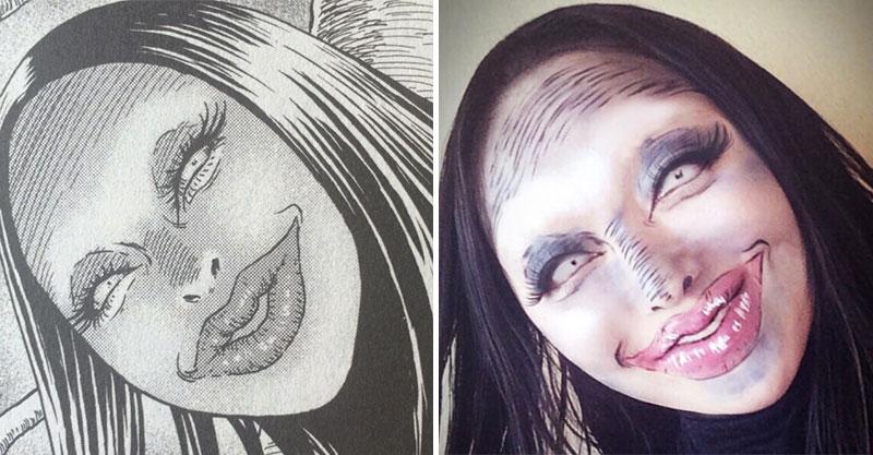 又美又詭異!最猛伊藤潤二角色cosplay照 「錐臉+裂嘴笑」居然有人真的做得出來