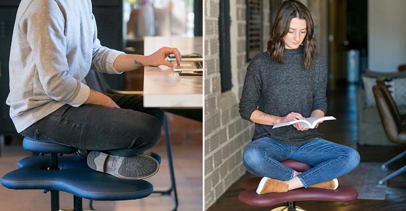 國外推「盤腿愛好者」專屬辦公椅 超貼心「2種坐法設計」都不腿酸❤